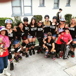 Derby girls on parade